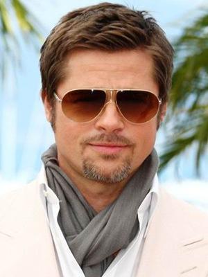 Brad Pitt mens hairstyles short