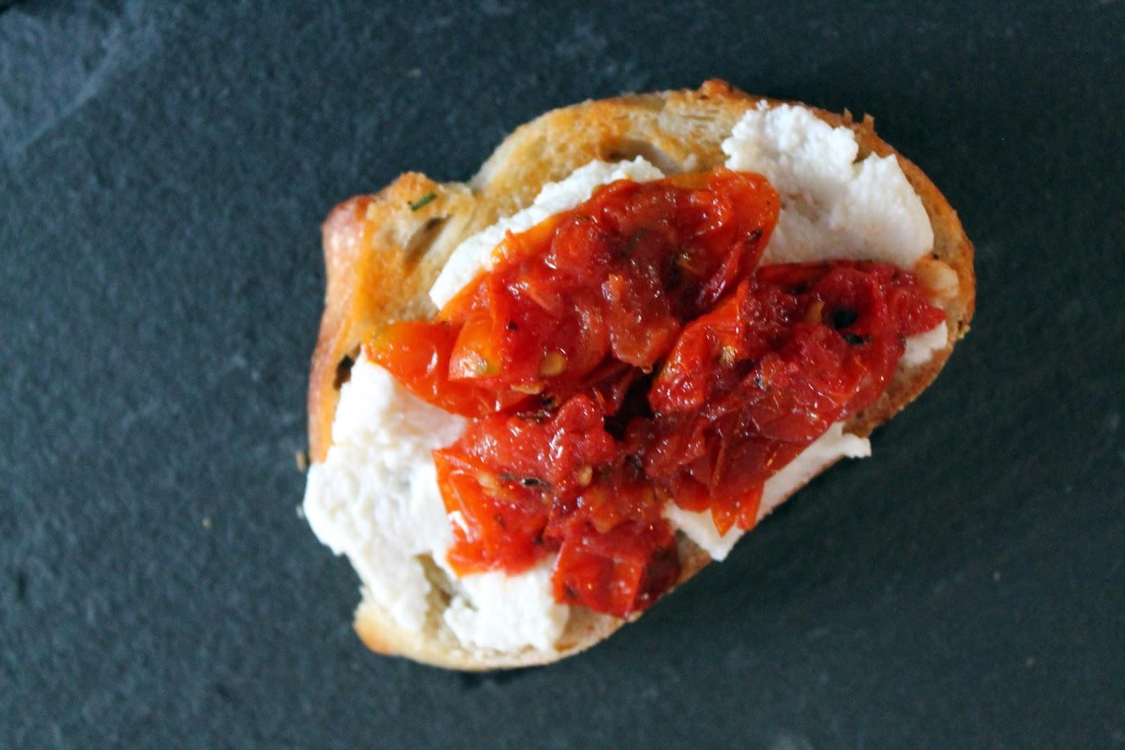 Something Yummy This Way Comes: Rosemary Roasted Tomato Bruschetta