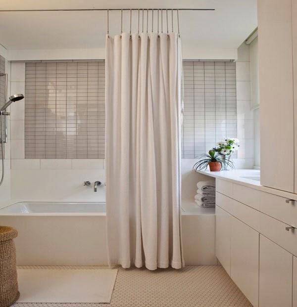 Dise os de cortinas de ducha hechas de seda ba os y muebles - Cortinas de duchas ...