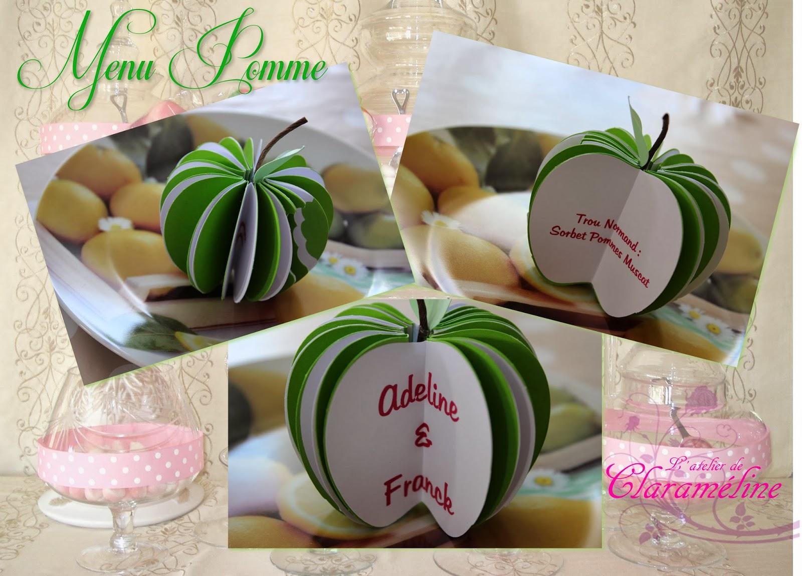 Favori Menu pomme,thème nature,gourmandise et champêtre | L'atelier de  CQ48
