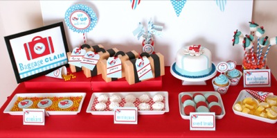 Kara 39 s party ideas airplane 2nd birthday party kara 39 s for Airplane party decoration ideas