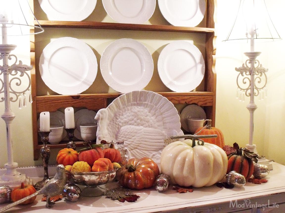 Mod Vintage Life My Thanksgiving Decor 2012