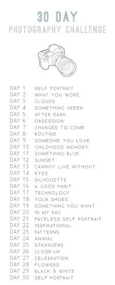 reto fotográfico de 30 días