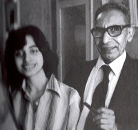 Durdana and her father in 1980