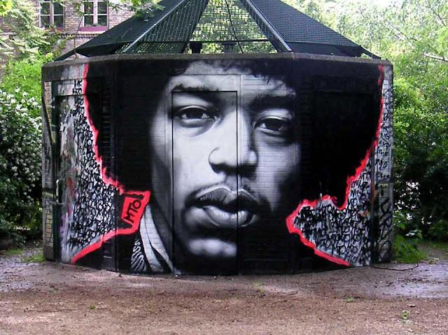 Jimi Hendrix, Graffiti Art, Street Art, Murals