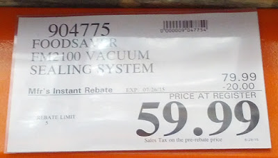 Deal for the FoodSaver FM2100 Vacuum Sealing System at Costco