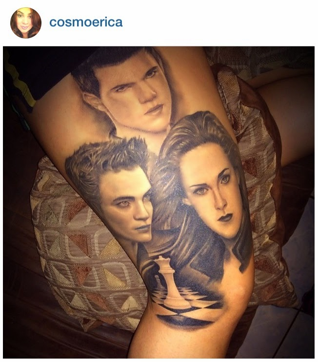 Twilight saga inspired tattoos edward jacob bella portrait for Twilight jacob tattoo temporary