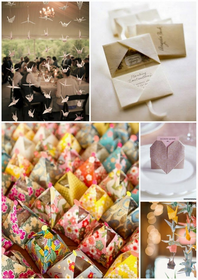 Wedding origami inspiration