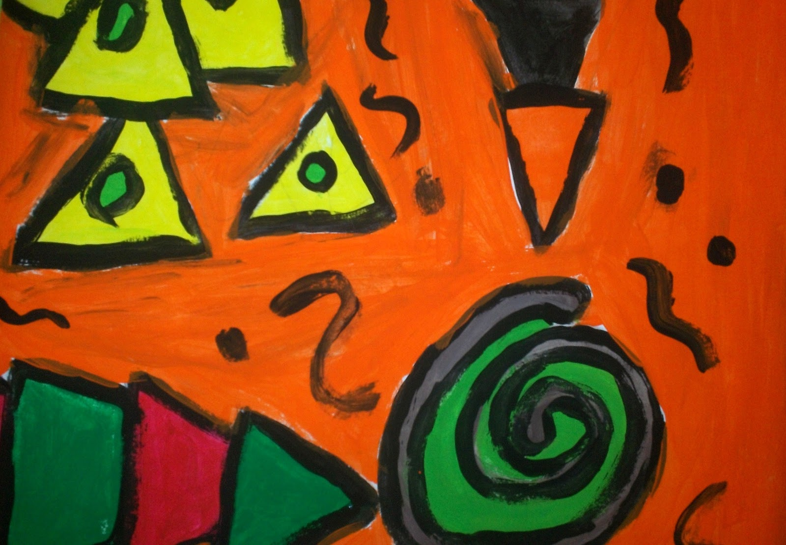 Art With Mr E Fallish Abstract Expressionism 2nd Grade