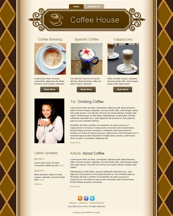 Coffee House - Free Wordpress Theme