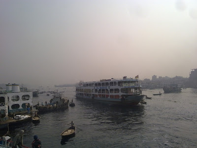 Inside Sadarghat river port