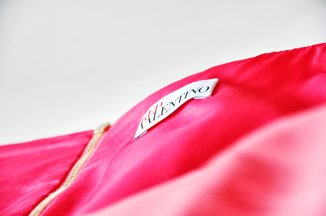 розовое платье valentino red