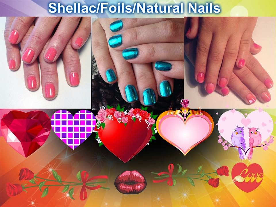 Natural-nails-Shellac-foils-Hotski-colorful-nail-art