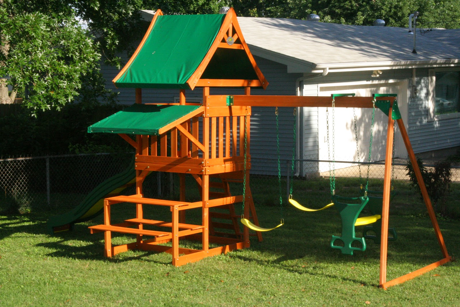 go green for spring with outdoor play sets