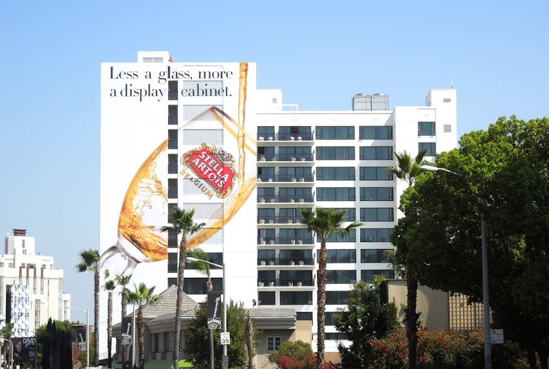 Giant Stella Artois Less glass more display cabinet billboard