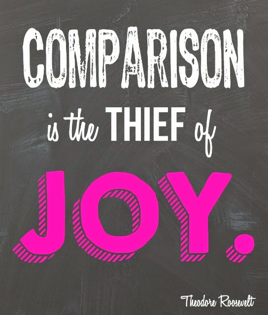 Comparison is the thief of joy quote and free printable from playpartypin.com