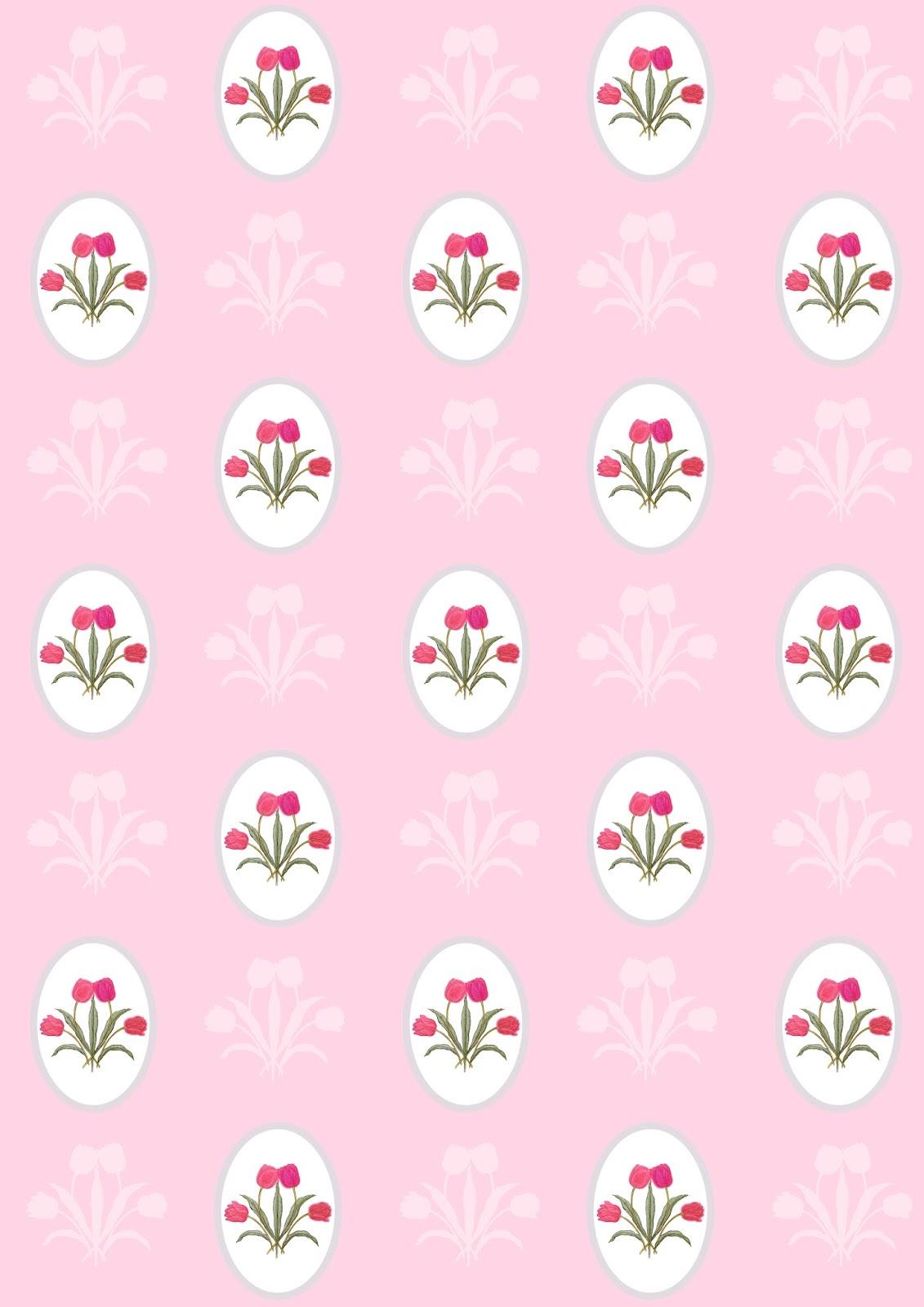 Free digital tulip flower scrapbooking paper - ausdruckbares ...