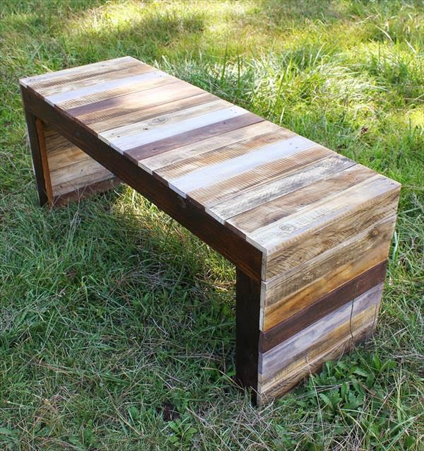 Wood Pallet Table Bench