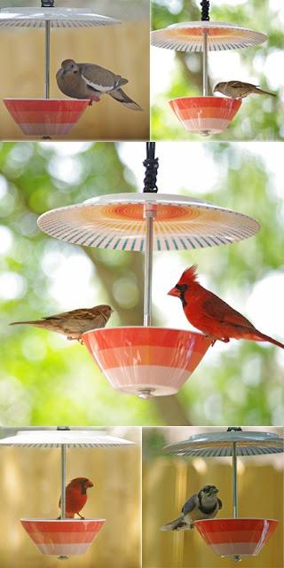 Selbermachen: Vogelhaus aus Porzellan - saubere Futterstelle