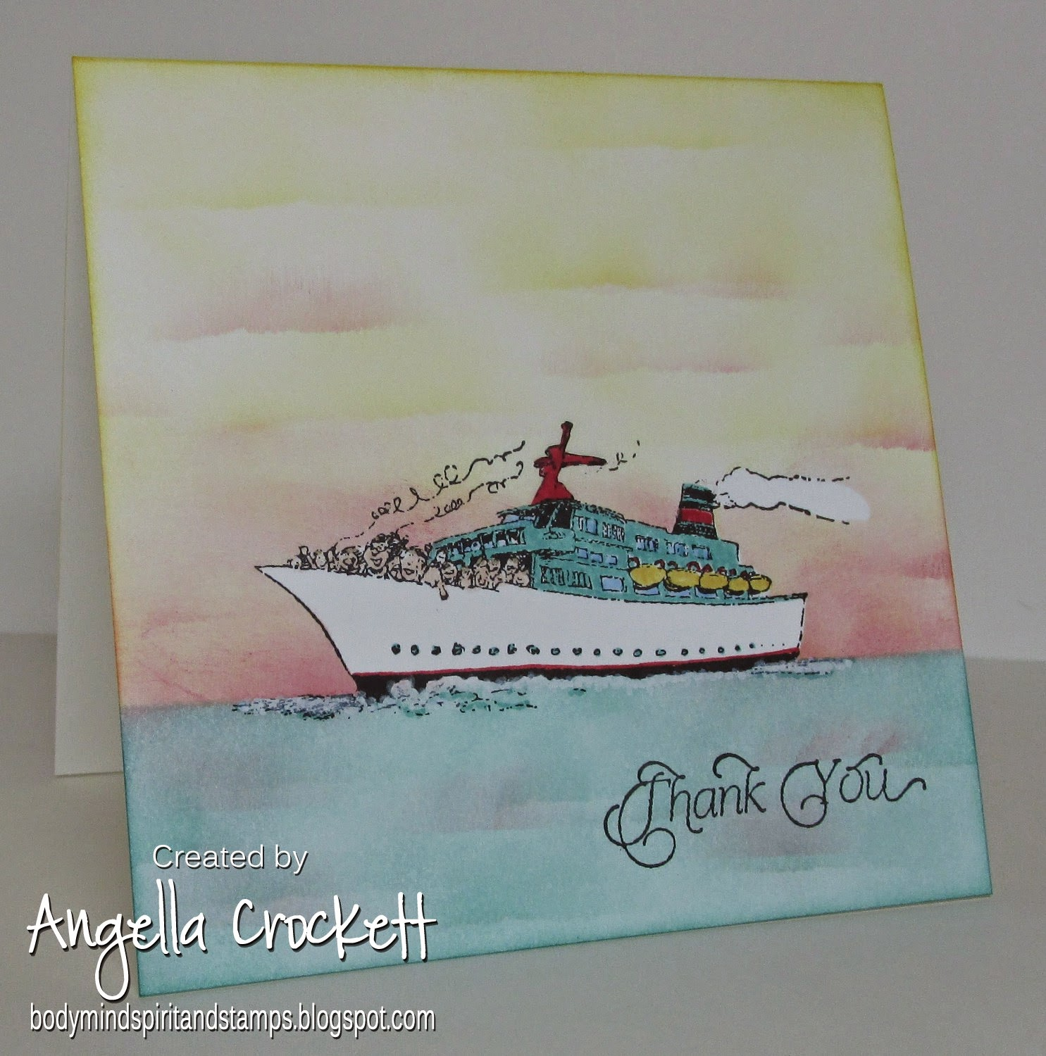 Our Daily Bread designs Thank You, Stamper's Best Cruisin, Card Designer Angie Crockett