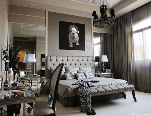 New england fine living beautiful master bedrooms with chandeliers in them Modern vintage master bedroom