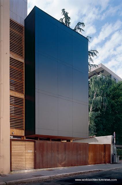 Arquitectura europea casa prefabricada de madera en Francia