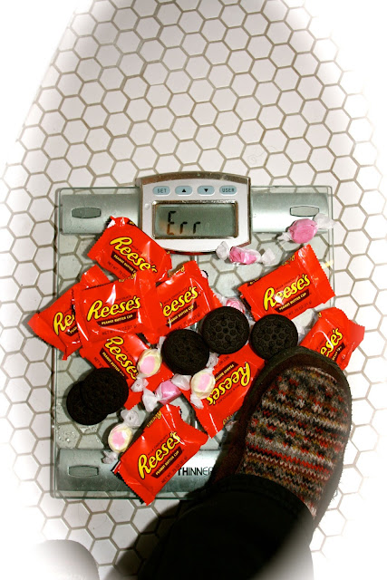 junkfood on a scale