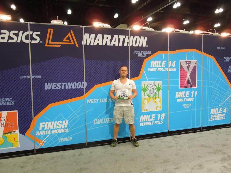 LA Marathon 2013 route map