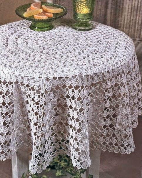 patrones de mantel tejido ganchillo