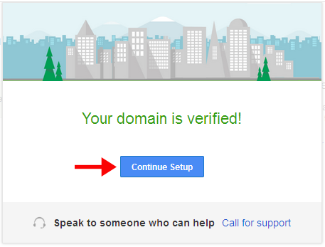 Domain is verified