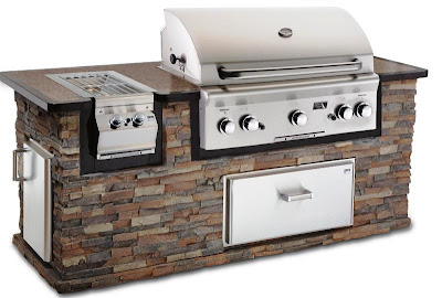 built in stainless steel grill