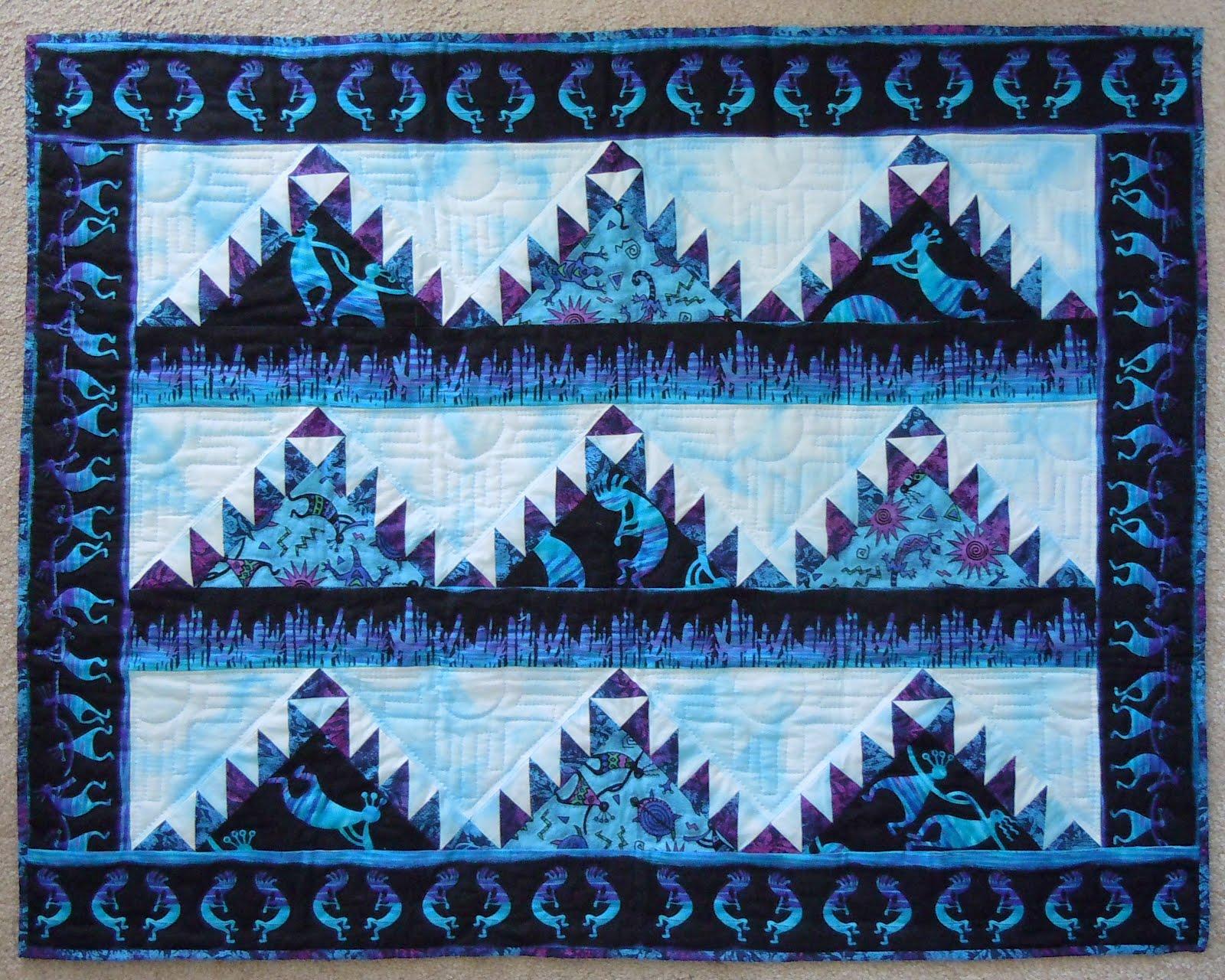 Laurel's Studio: Kokopelli Delectable Mountain Quilt : mountain quilts - Adamdwight.com
