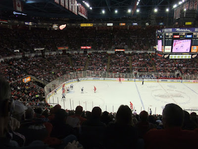 joe lewis arena seats, view from the upper deck, wings, datsyuk