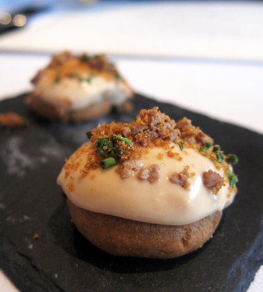 S o o k s f o o d n o t e s london eats the ledbury for Canape foie gras