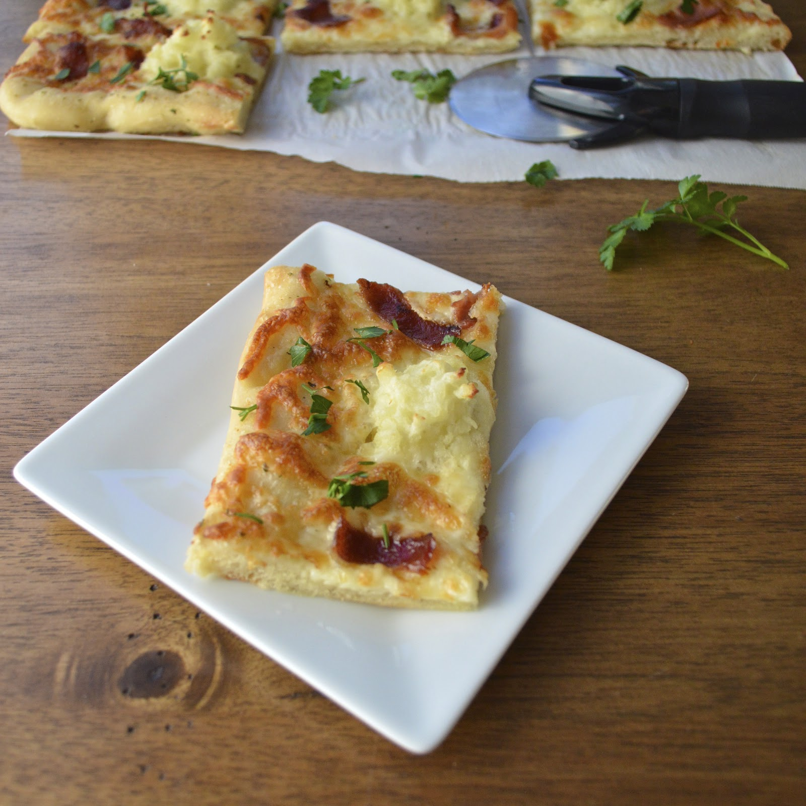 ... Potato and Bacon Pizza | Virtually Homemade: Mashed Potato and Bacon