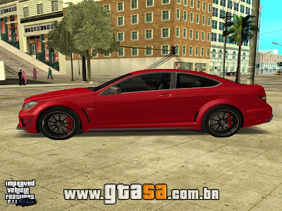 Mercedes-Benz C63 AMG Black Series 2012 para GTA San Andreas