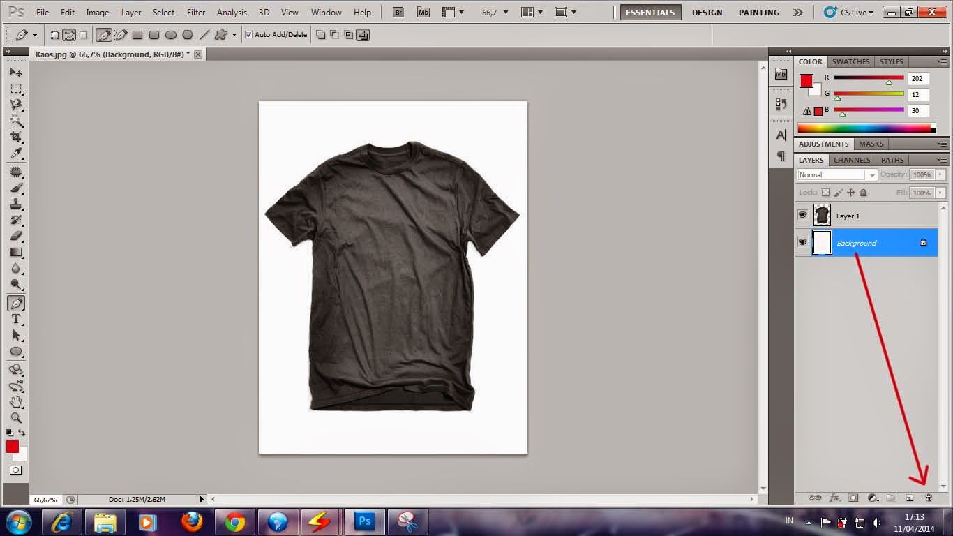 Cara Membuat Desain Gambar Kaos Horor Dengan Photoshop
