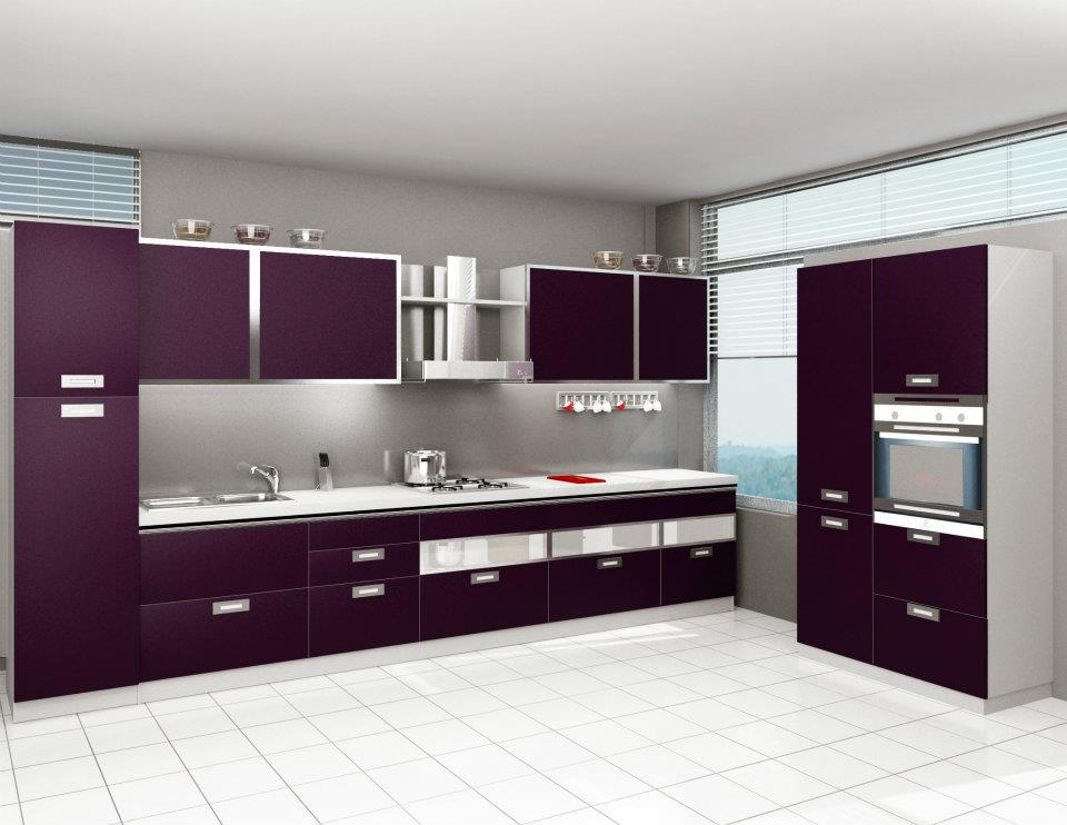 Furniture guru modular kitchens quite the rage for Long kitchen wall units