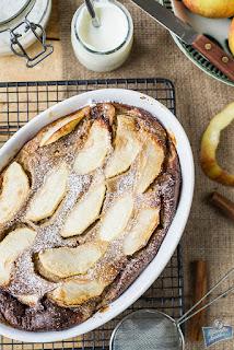 Pieczony naleśnik z jabłkiem
