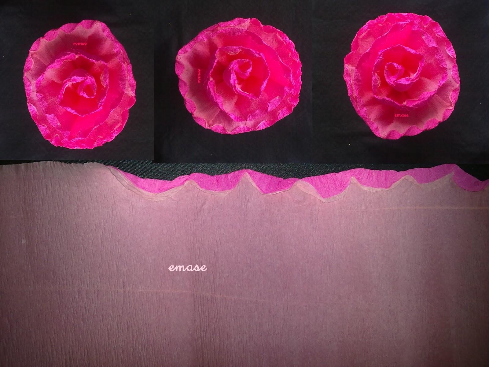 Como hacer Manualidades sencillas paso a paso: Flores de papel crepe