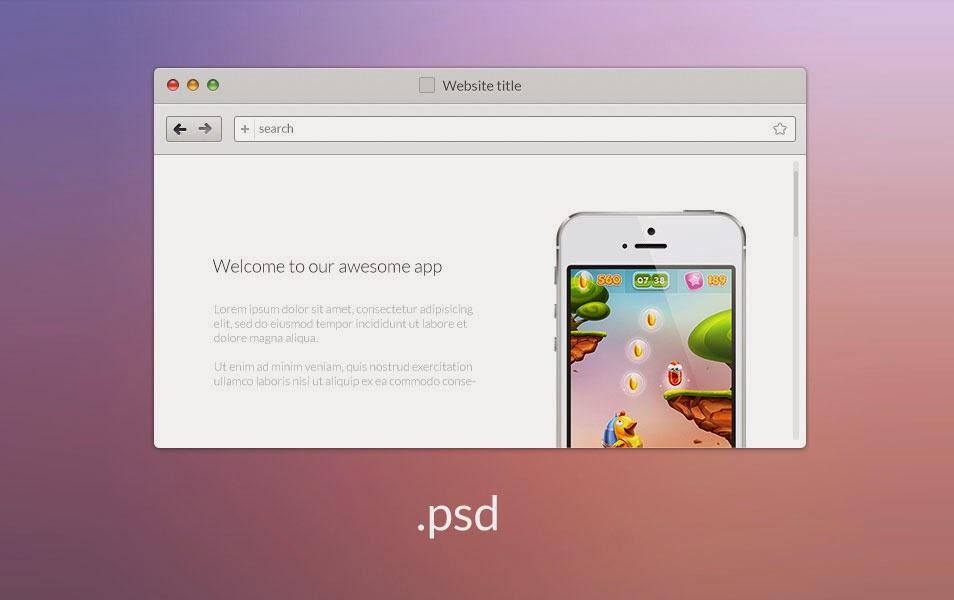 Free Web Browser PSD