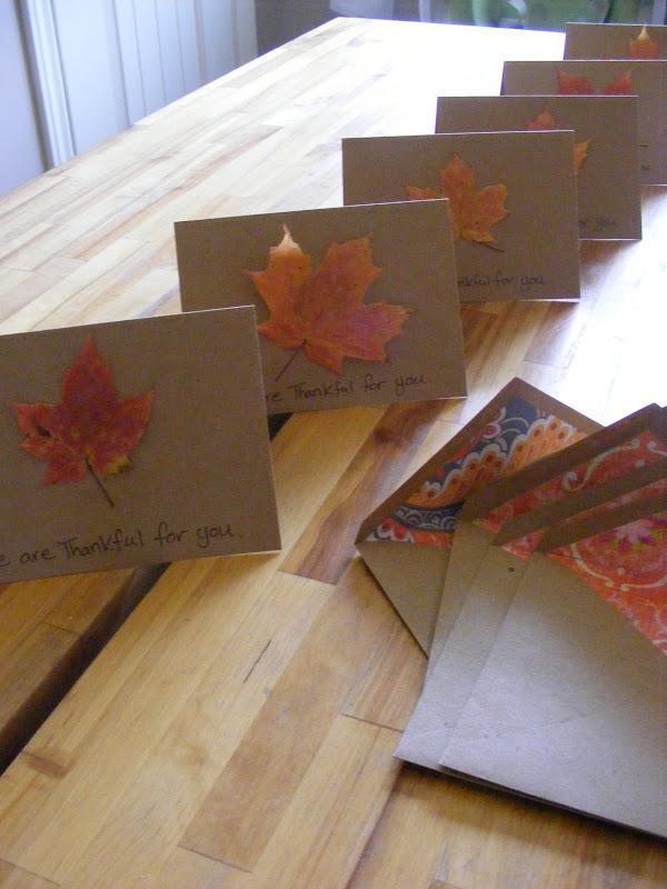Savourtheseason Day 4 Making Simple Thanksgiving Cards