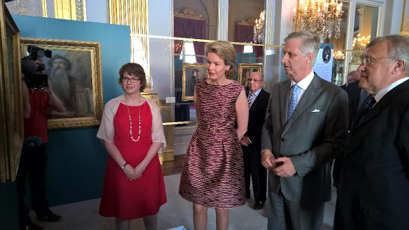 Queen Mathilde Visited The Exhibition '@Yourservice' At The Egmont Palace