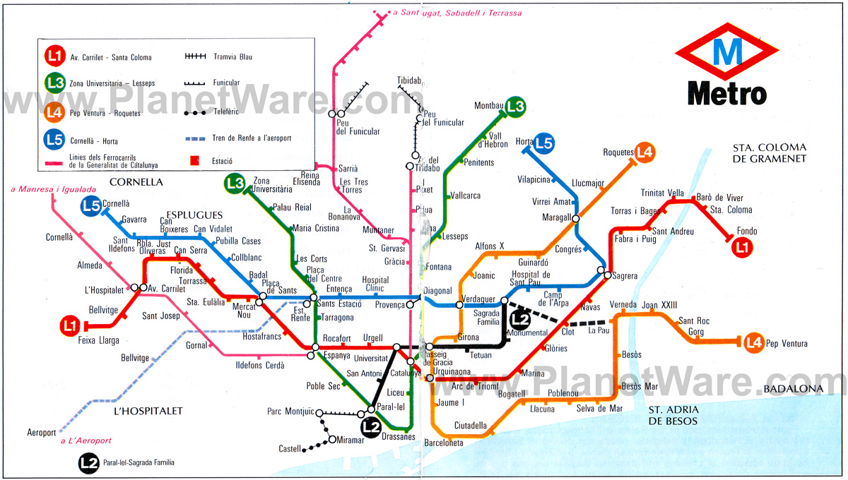 Barcelona Map Tube