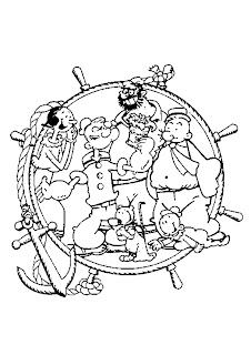 familly popeye the sailor coloring page