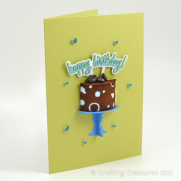 Welcome To Paper Zen Cecelia Louie 3d Coffee Cake Birthday Card