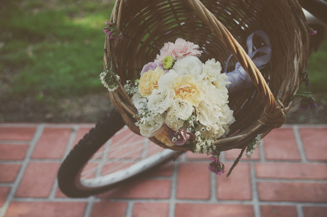 melbourne wedding flowers bouquet basket