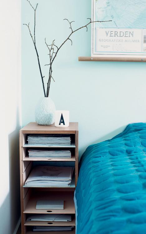 Yndlingsblå dominere i dette soveværelse