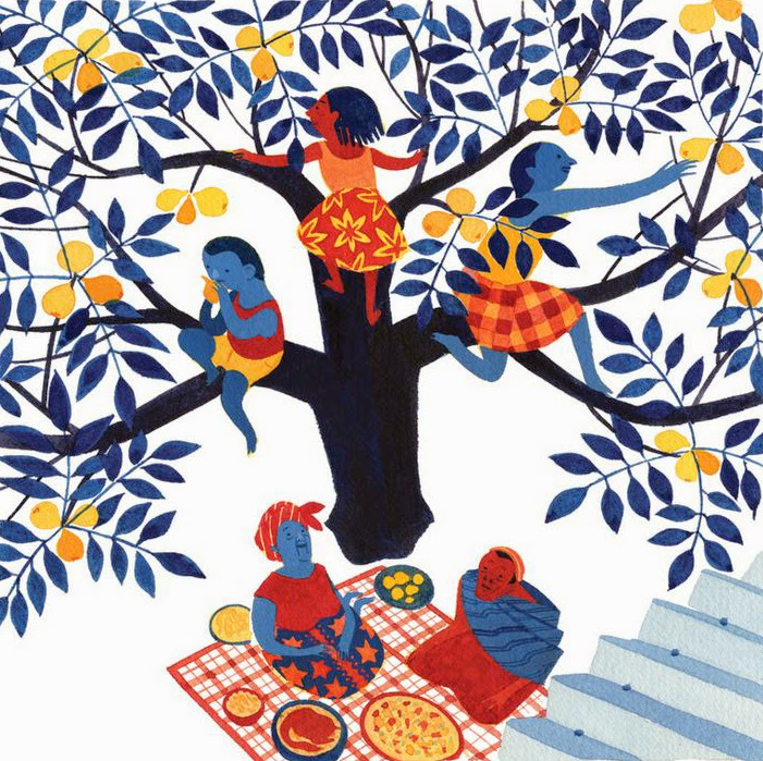 African picnic illustration by Eleanor Davis