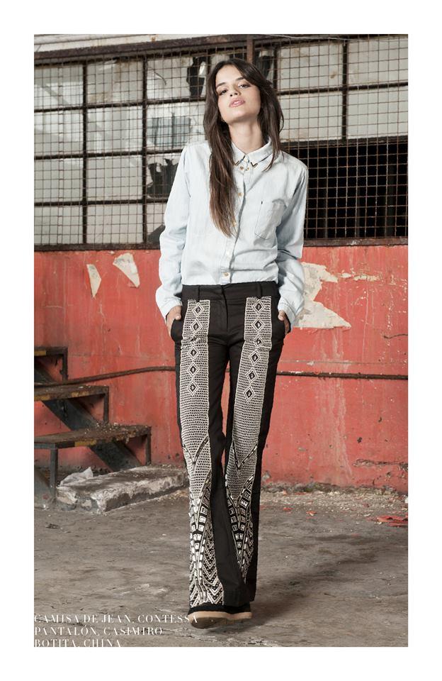 camisa de jeans Delaostia invierno 2013